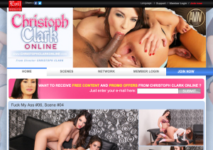 Best paid pornsite with Christoph Clark anal scenes