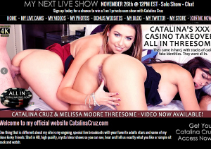 Amazing pay sex site for Catalina Cruz live shows.
