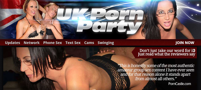 Cheap British adult site where you can watch sex party videos